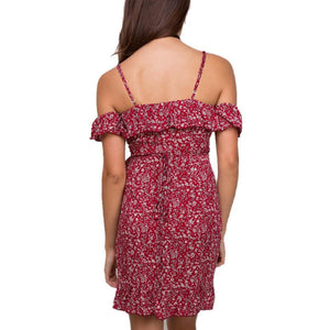 Red Floral Sundress