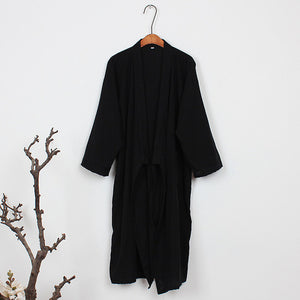 Cotton Japanese Kimono Unisex Bathrobe