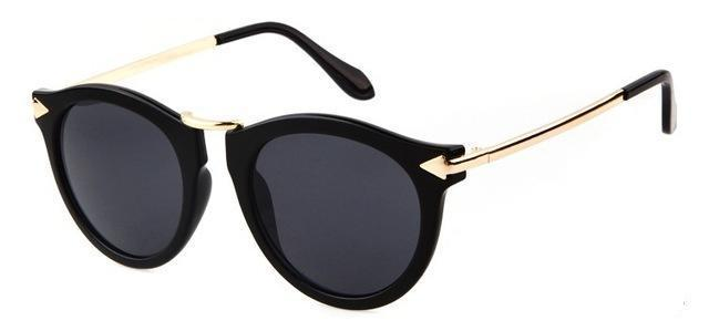 Black and Gold Women's Sunglasses