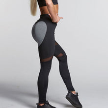 Love Heart Black & Grey Casual Leggings