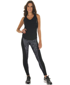 Grey & Black Fitness Summer Leggings