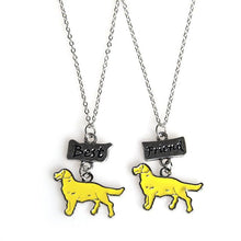 2PCS/SET Golden Retriever Chain Necklaces