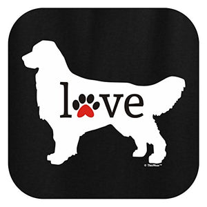 Golden Retriever Love Dog Paw  O-Neck Men Short Funny T-Shirt