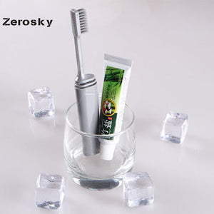 Portable Compact Bamboo Charcoal Folding Toothbrush