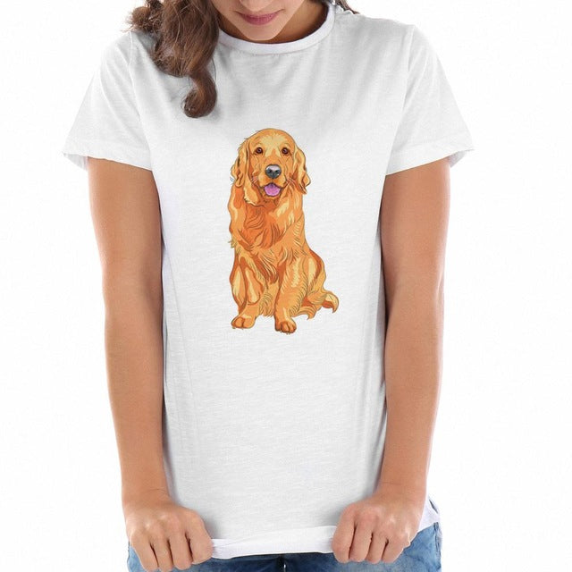 Golden Retriever Printed Top for Women
