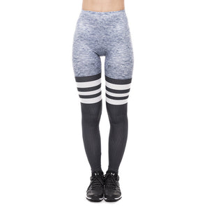 Three-Striped Neutral Colorway Fitness Leggings