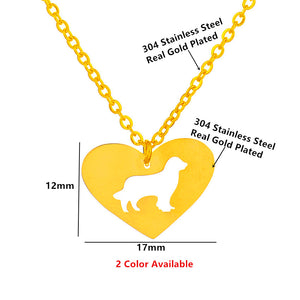 Golden Retriever Heart Pendant - Lovely Gift
