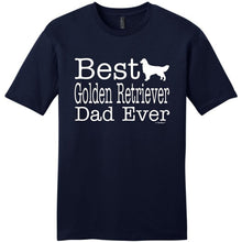 Cheap Graphic T Shirts O-Neck Short Sleeve Dog Lover Gift Best Golden Retriever Dad Ever  Comfort Soft Mens Shirt