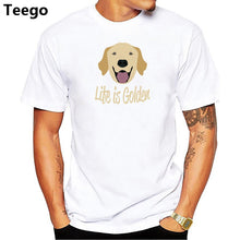 "Men's ""Life is Golden"" Golden Retriever Dog Print T-Shirt"