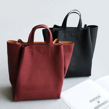 Leather Grey Tote Bag