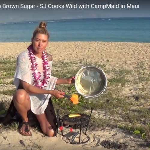 GRILLED PINEAPPLE DIPPED IN BROWN SUGAR - SJ COOKS WILD IN MAUI