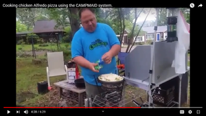 Chicken Alfredo Pizza CampMaid Dutch Oven