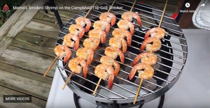 Hot Mama's Smoked Shrimp on CampMaid Flip Grill