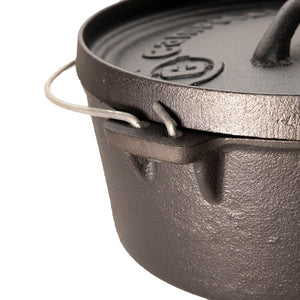 "8"" Pre-Seasoned 2 Quart Dutch Oven Without Legs"