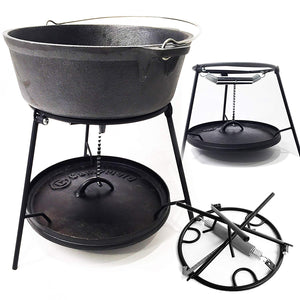 "6-Piece Dutch Oven Set With 12"" Dutch Oven Without Legs"