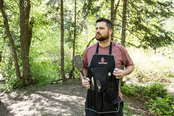 NEW Chef Apron with BBQ Grilling Tool Set