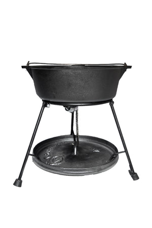 "8-Piece Dutch Oven Set With 12"" Dutch Oven Without Legs & All Tools,"