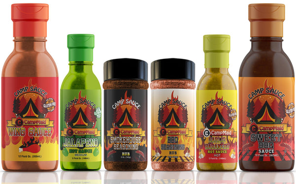 CampMaid Hot Sauces, Marinades, & Seasoning Rubs