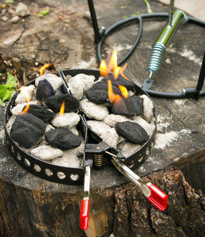Charcoal Holder & Adjustable Heat Source