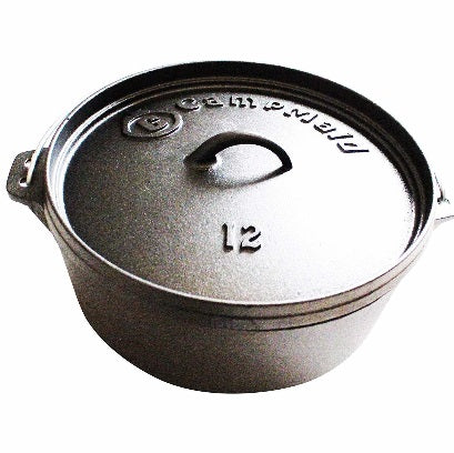 "12"" Pre-Seasoned 7 Quart Dutch Oven Without Legs"