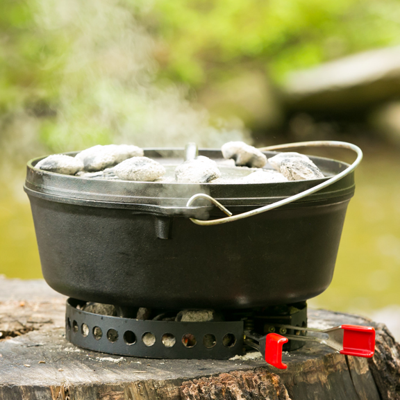 CampMaid Charcoal/Wood Holder & Adjustable Heat Source
