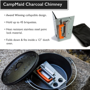 Collapsible Charcoal Chimney, OUT OF STOCK, TAKING PRE-ORDERS,ETA 9/29