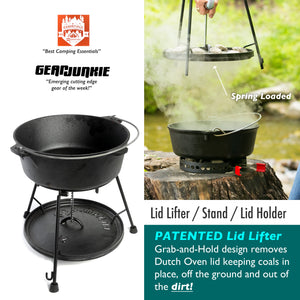 "6-Piece Dutch Oven Set With 12"" Dutch Oven & Essential Tools"