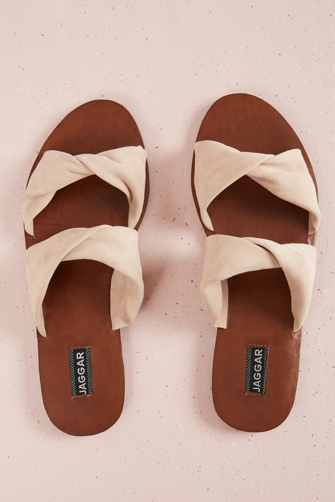 COURSE SUEDE FLAT blush