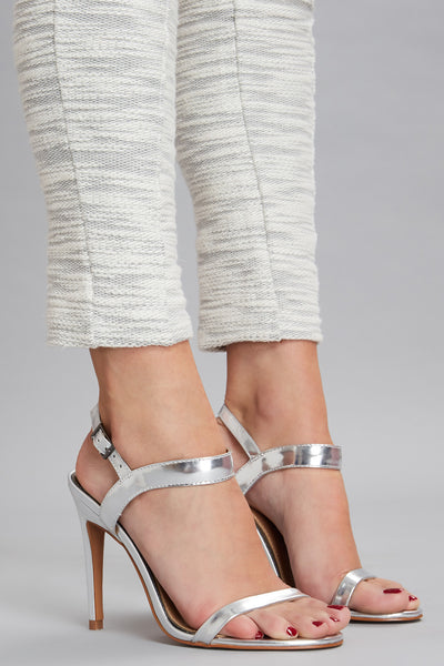 LANE METALLIC HEEL silver