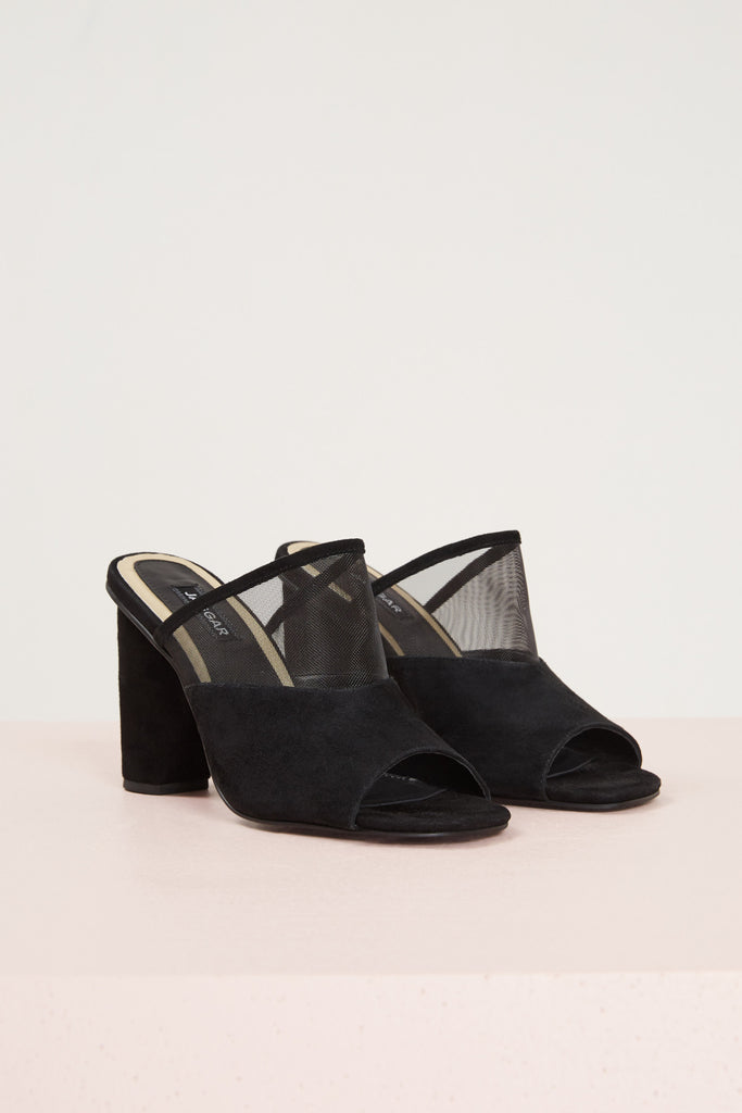 POLAR MESH MOON HEEL black