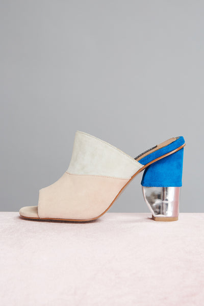 POLAR METALLIC MOON HEEL chalk