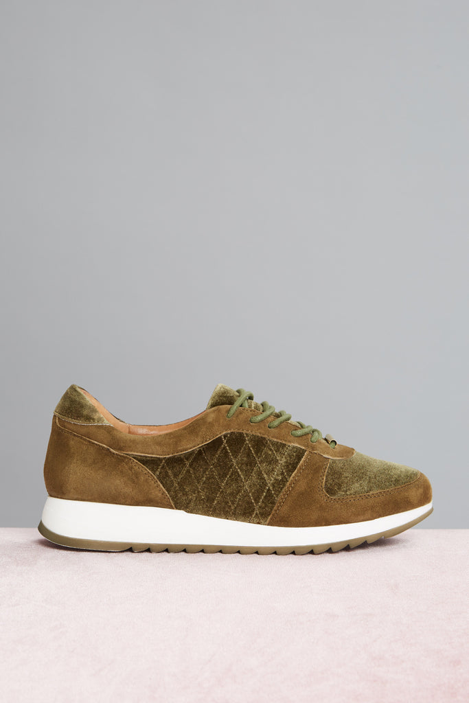 QUILTED SNEAKER khaki