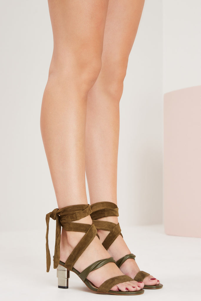 TRIPLE METAL HEEL khaki