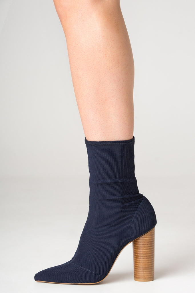 RIBBED SOCK BOOT navy