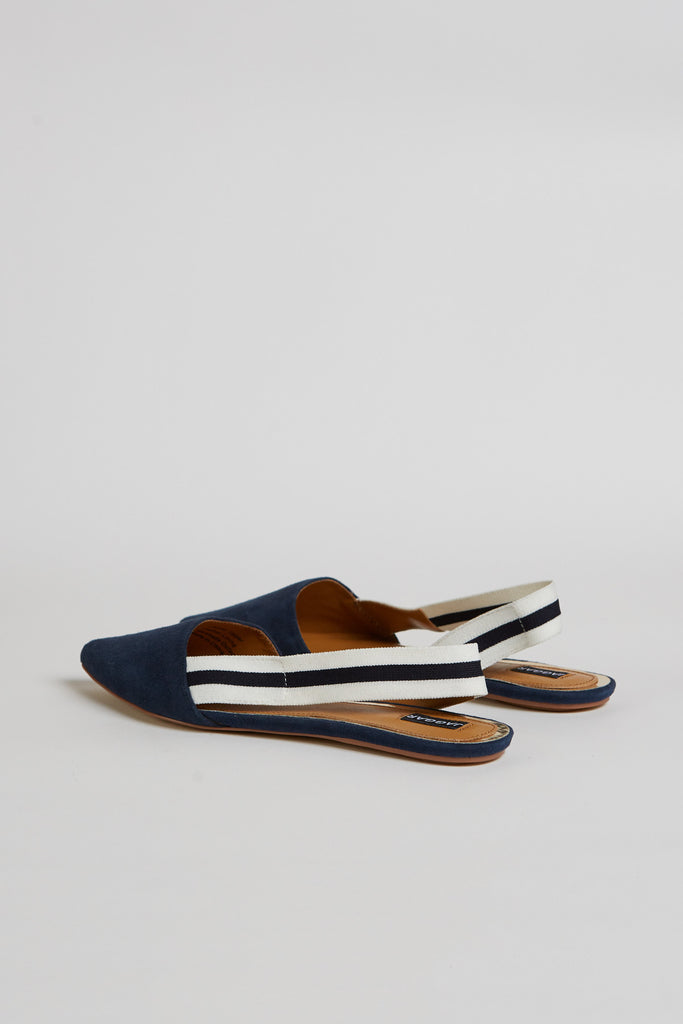 ACTION SUEDE FLAT navy