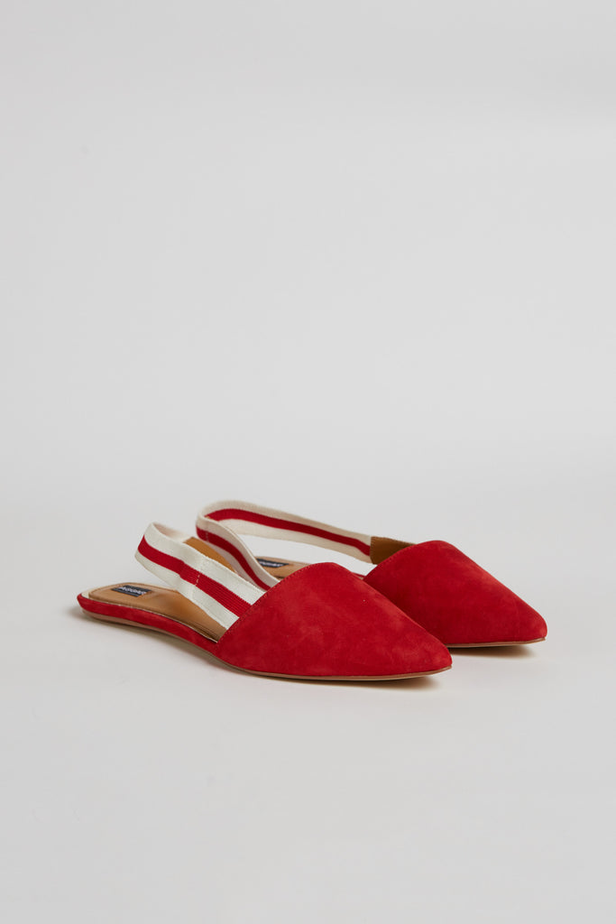 ACTION SUEDE FLAT scarlet