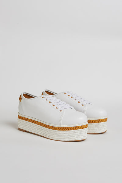 PROMINENT LEATHER PLATFORM SNEAKER cloud
