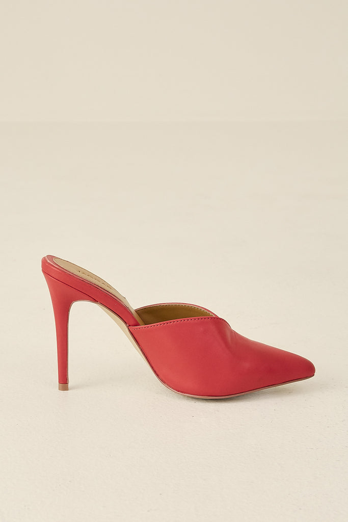 MYTH LEATHER HEEL chilli