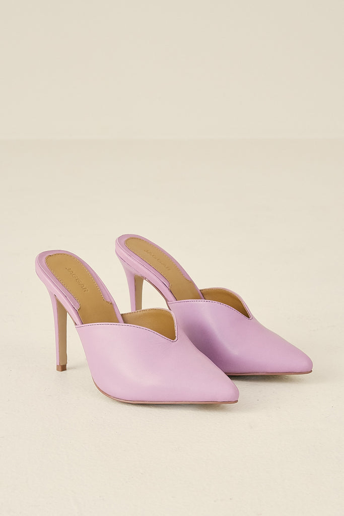 MYTH LEATHER HEEL lilac