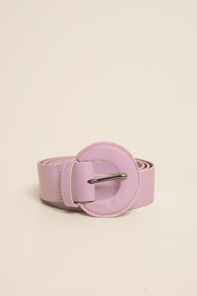 BUCKLE BELT LEATHER lilac