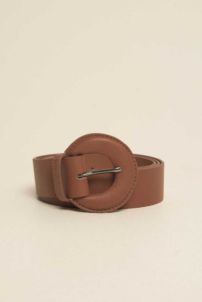 BUCKLE BELT LEATHER rust