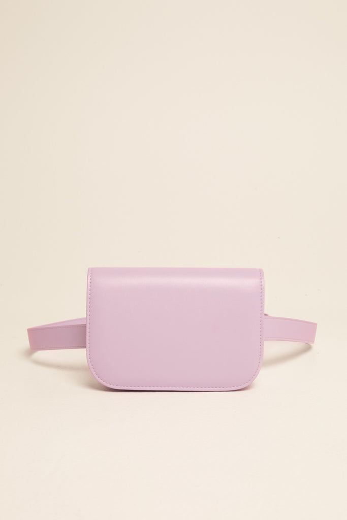 BELT BAG LEATHER lilac