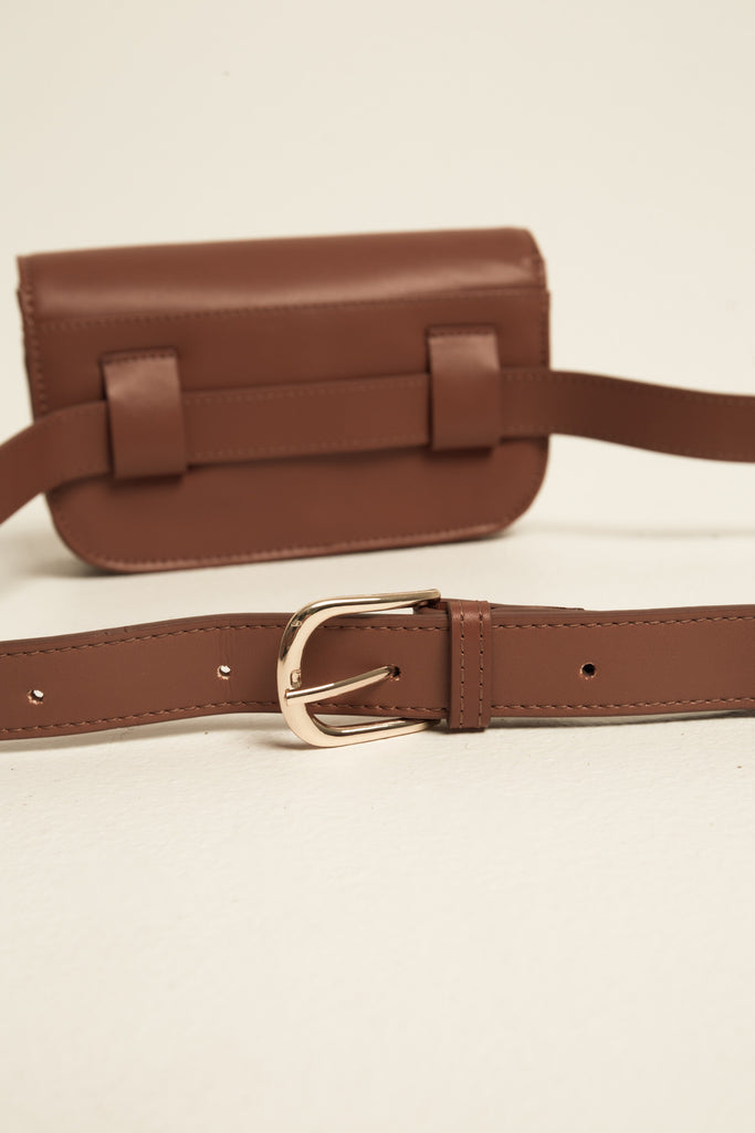 BELT BAG LEATHER rust