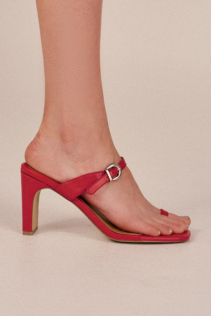 CONTEMPORARY LEATHER HEEL rose