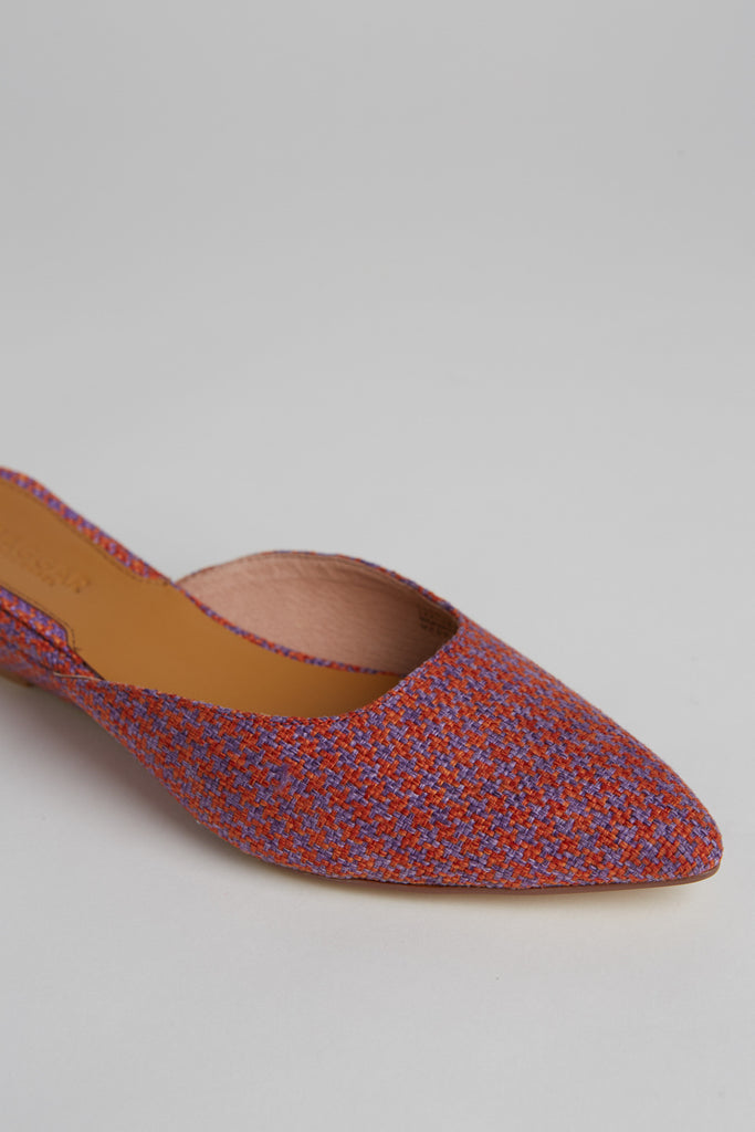 BIJOU HOUNDSTOOTH WEDGE orange