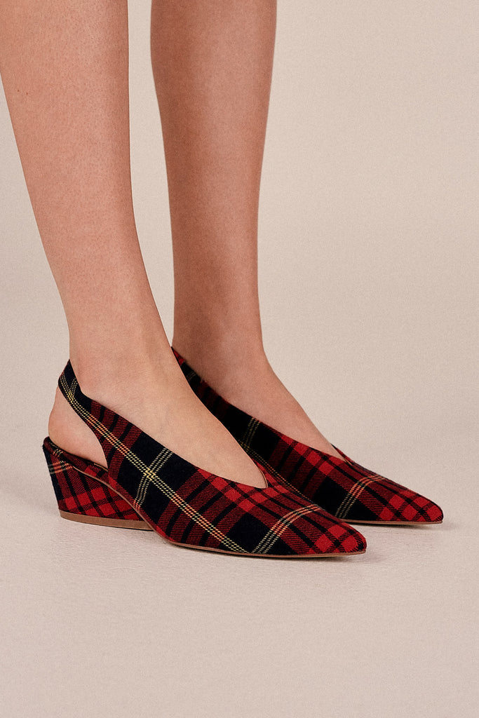 AIM PLAID SLINGBACK rose