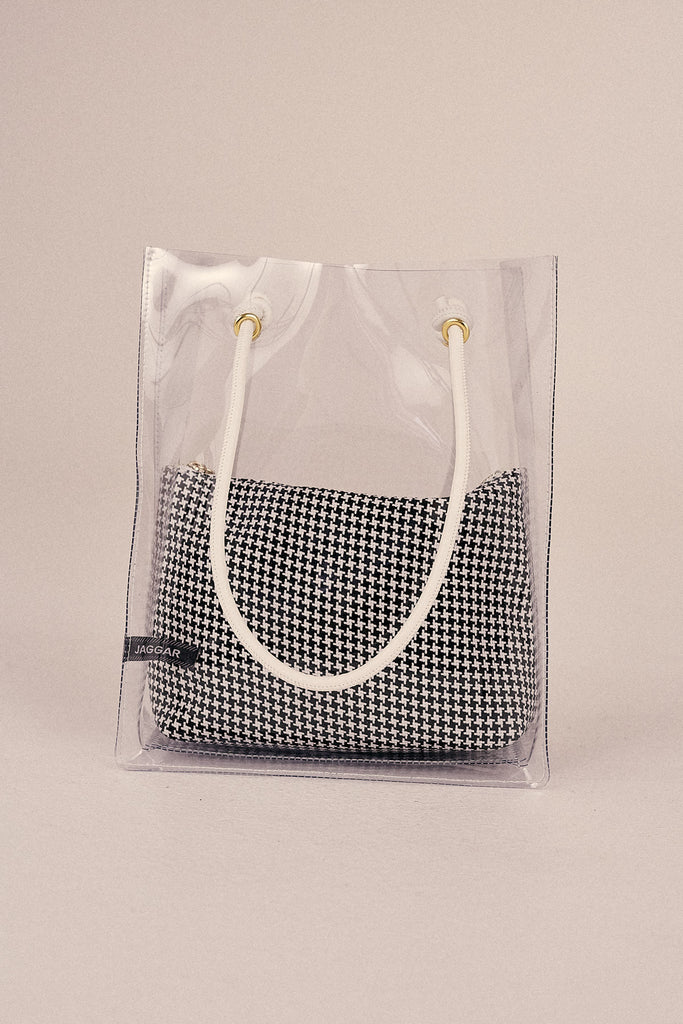 PVC TOTE BAG black