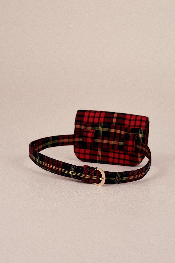 BELT BAG PLAID rose