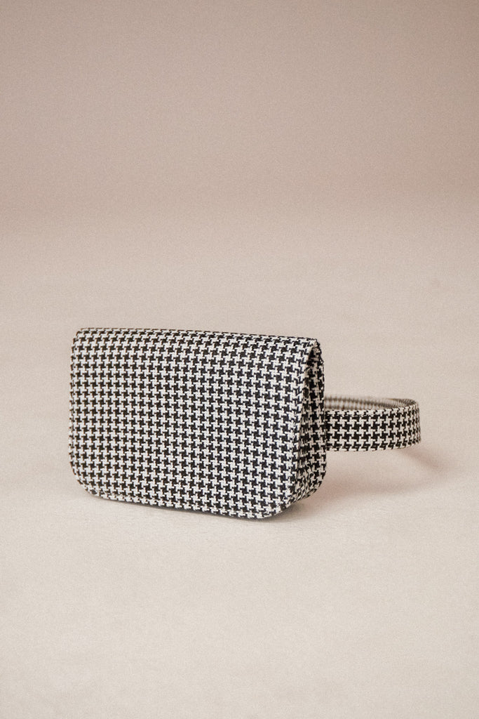 BELT BAG HOUNDSTOOTH black