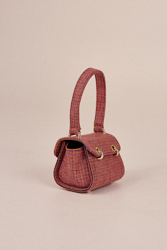 MINI HOUNDSTOOTH BAG orange